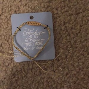 """Jewelry - Never opened gold """"blessed bracelet"""""""